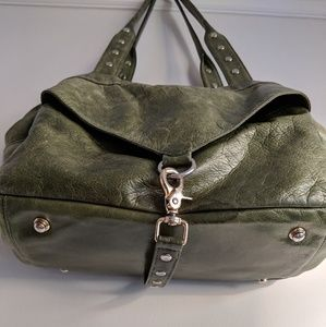 Botkier Bags - Botkier Trigger Medium Satchel green leather